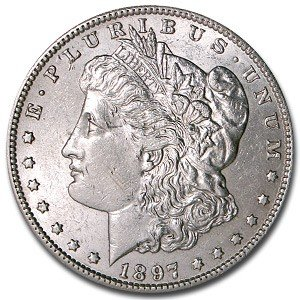 8: 1897 P Morgan Silver Dollar UNC
