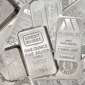 4G: Lot of 10 Assorted maker 1 oz. pure silver bar