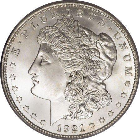 3: 1921 UNC Morgan Silver Dollar