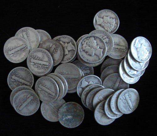 5: Lot of 50 Mercury Dimes - Assorted