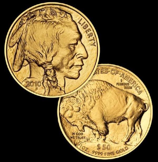 127: 1 oz Gold US Buffalo - 24K Bullion - Random