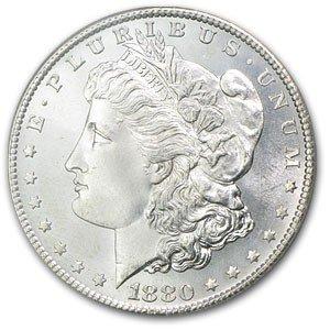 4: 1880 P Morgan Silver Dollar - UNC