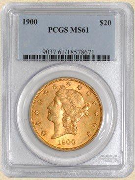 6N: 1900 $20 Liberty MS61 PCGS