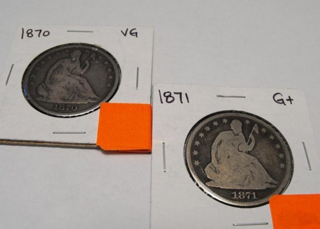4A: 1870 & 1871 Seated Liberty Halves -