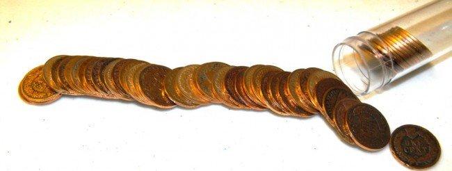 1Z: (50) Early Date Inndian Head Cents 1890-1900
