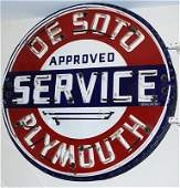 147O: Desoto Plymouth Approved Service Ssp Sign NEON
