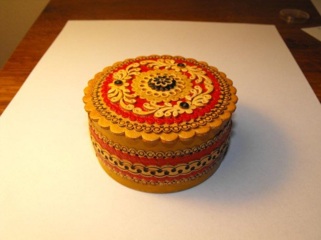 2A: Hand Made Siberian Birch Russian Box