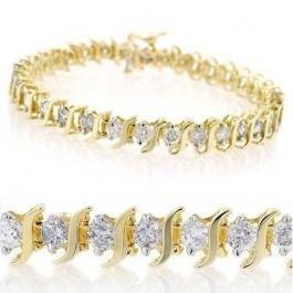 3V: 8.0 ctw Diamond Bracelet - $32500 GG GIA