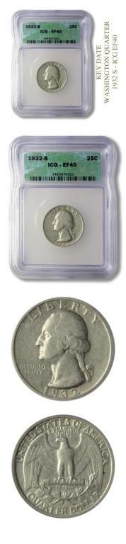 4: Key Date - Washington Quarter-1932 S-ICG EF40