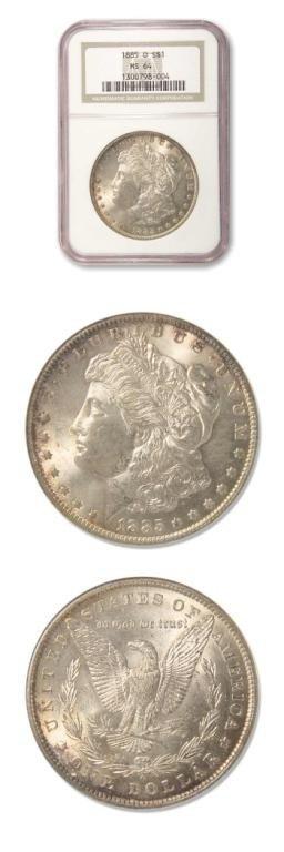 6: Morgan Dollar - 1885 O - NGC MS64