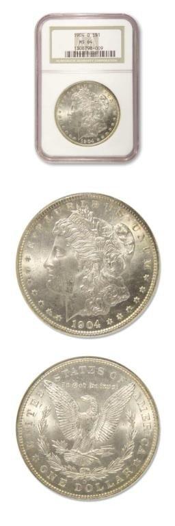 7: Morgan Dollar - 1904 O - NGC MS64
