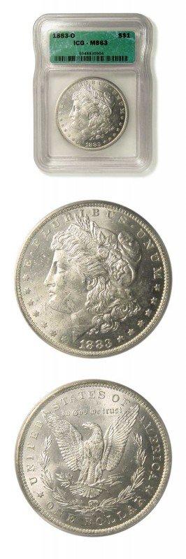 8: Morgan Dollar - 1883 O - ICG MS 63