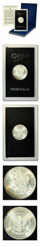 9: Morgan Dollar - GSA Hoard-1883-Box & COA