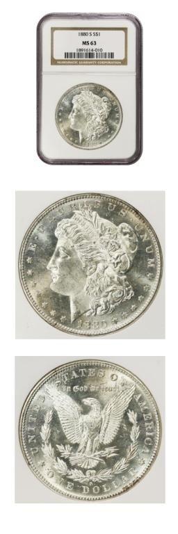 10: Morgan Dollar - $1 - 1880S - NGC - MS 63
