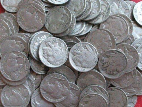 4S: Lot of (100) Buffalo Nickels - RD