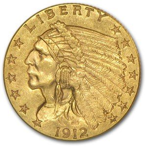 7S: Random Date $ 2.5 Gold Indian Coin