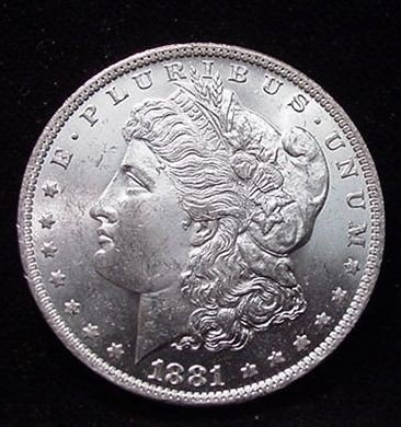 1L: 1881 S Blazing White Morgan