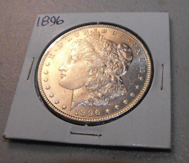 1A: 1896 P UNC Morgan Silver Dollar