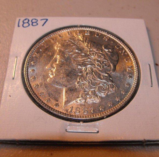 2A: 1887 P UNC Morgan Silver Dollar