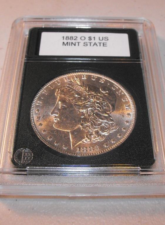 1B: 1882 0 Slabbed/Graded Morgan