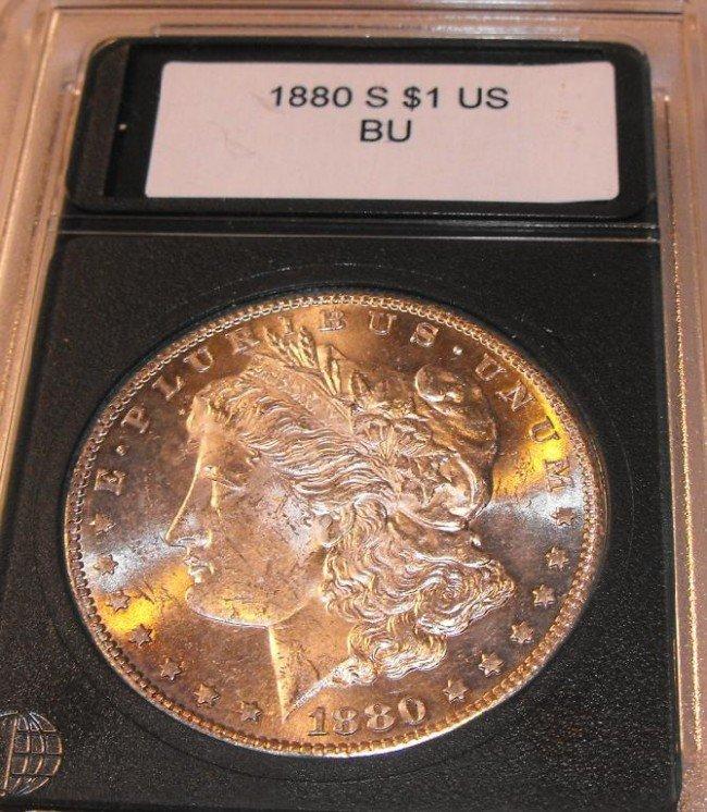 4B: 1880 S Graded/Slabbed Morgan
