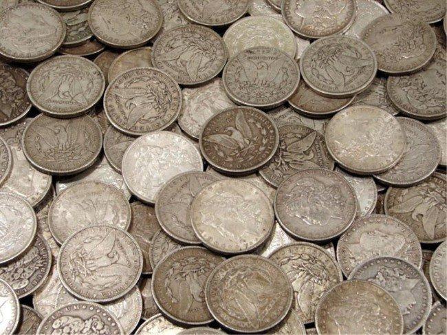 5C: Lot of 100 Morgan Silver Dollars