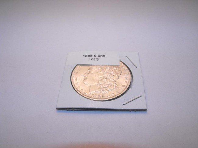 3: 1885 O UNC Morgan
