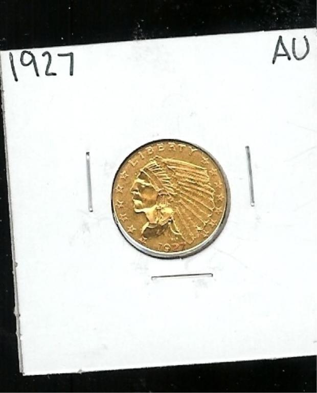 3B: 1927 AU $ 2.5 Indian Gold