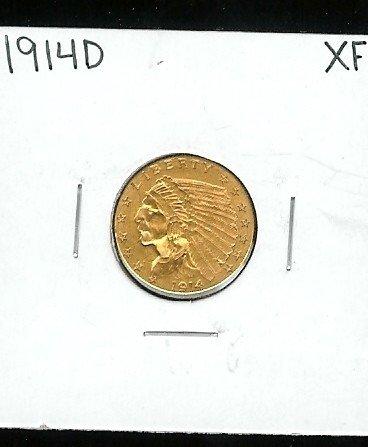 4B: 1914 D XF $2.5 Gold Coin Indian Head