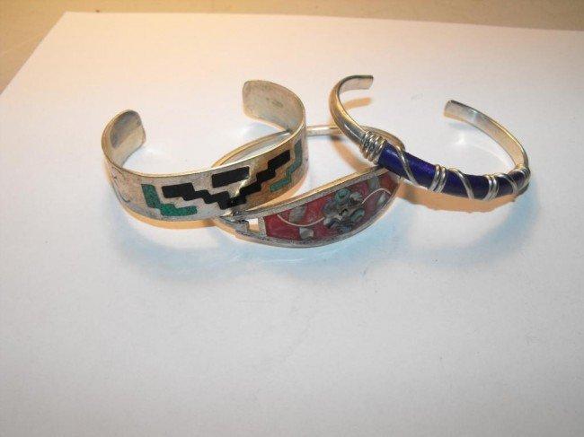 1Z: Lot of 3 Silver Bracelets