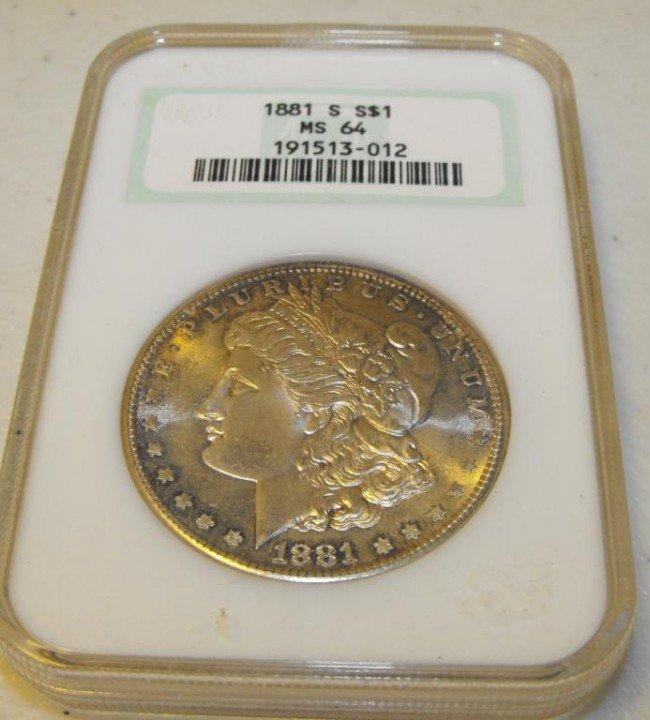 3Q: 1881 S MS 64 Morgan Old Holder