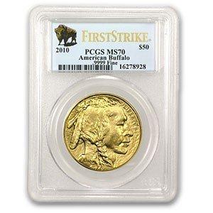 1E: MS 70 PCGS 2010 Gold Buffalo 1 ounce Pure