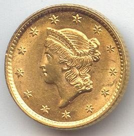 1S: $1 Civil War Era Type I Gold Coin - Random Date