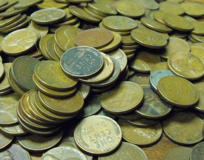4S: Lot of 300 Wheat Cents -