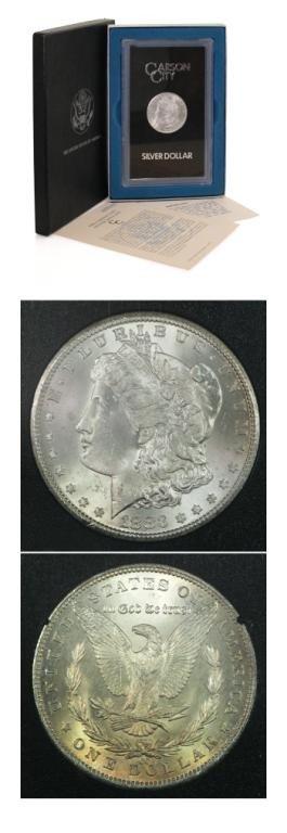 5S: 1883 CC GSA Morgan Silver Dollar