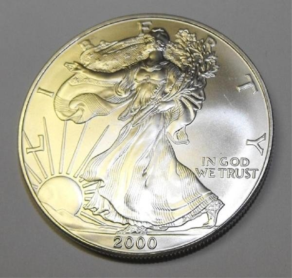 7A: Silver Bullion 1 oz. Silver Eagle- Random date-