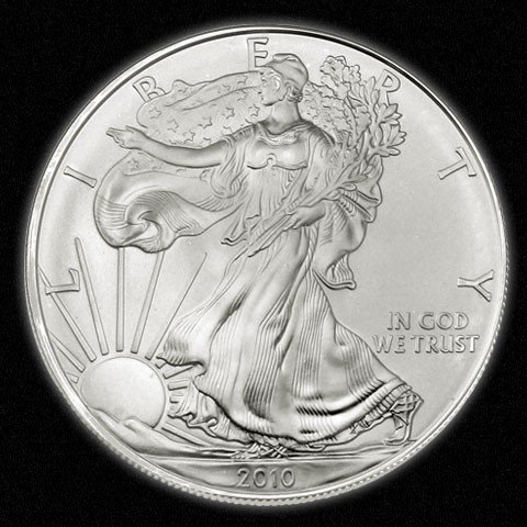13A: Silver Bullion 1 oz. Silver Eagle- Random date-