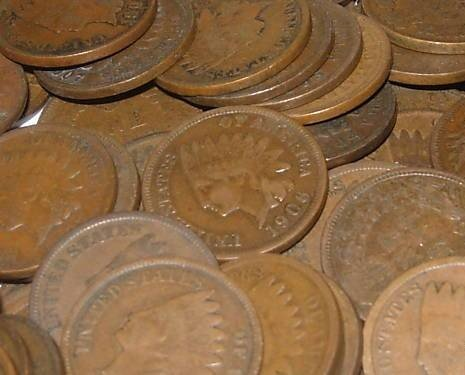 14A: Lot of 20 Indian Head Cents-Circulated