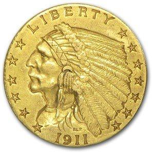 16A: $ 2.5 Gold Indian Head US Minted Coin-