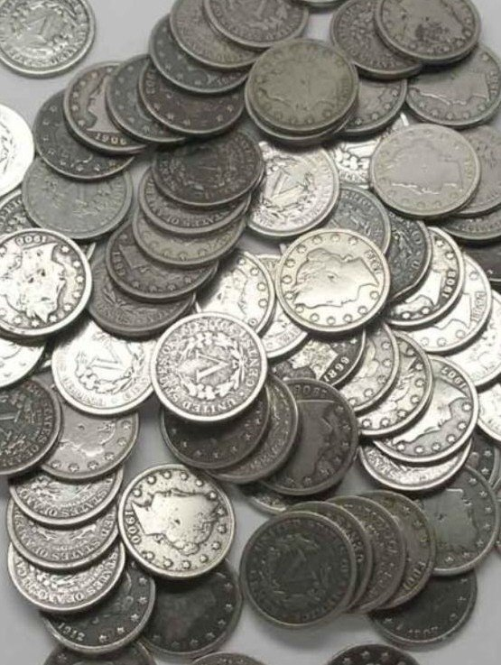 19A: Lot of 100 V Nickels- Early Various Dates