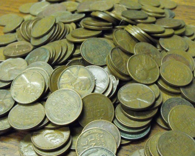 5S: Lot of 400 Wheat Cents -