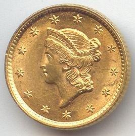 11S: $1 Civil War Era Type I Gold Coin - Random Date