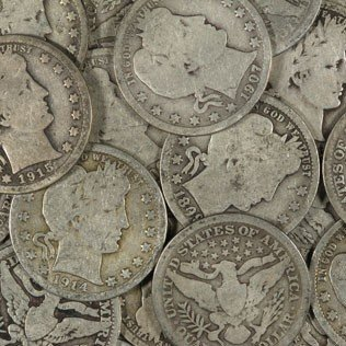 169S: Lot of (40) Barber 25c - Circulated