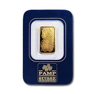 4: 2.5 Gram Pamp Suisse Gold Ingot