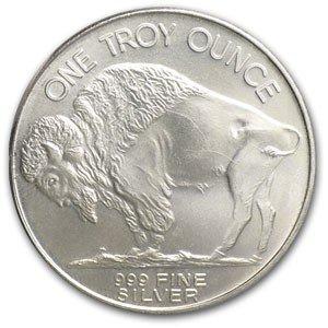 8: (10) Buffalo Silver Rounds Pure