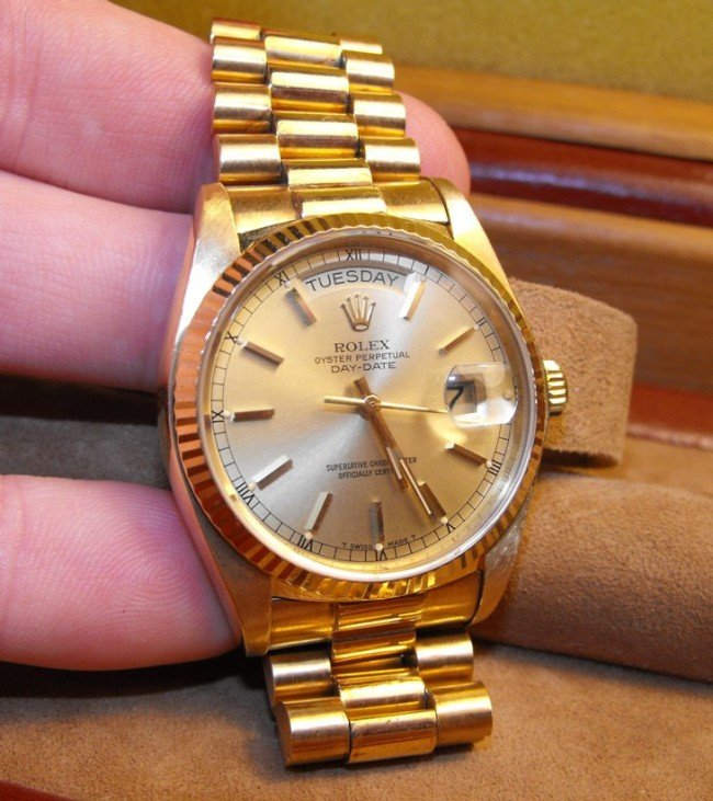 4: 18k Presidential Rolex Factory Condition
