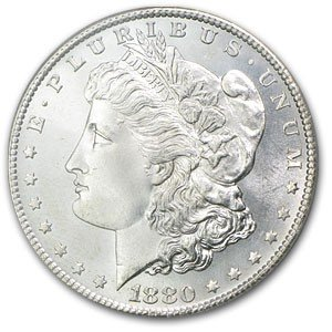 19S: 1880 UNC Morgan SIlver Dollar