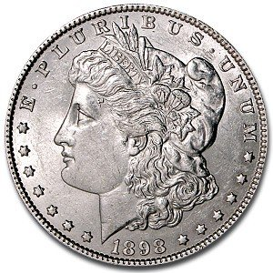 1: 1898 P Morgan Silver dollar