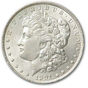 2: 1891 P Morgan Silver Dollar