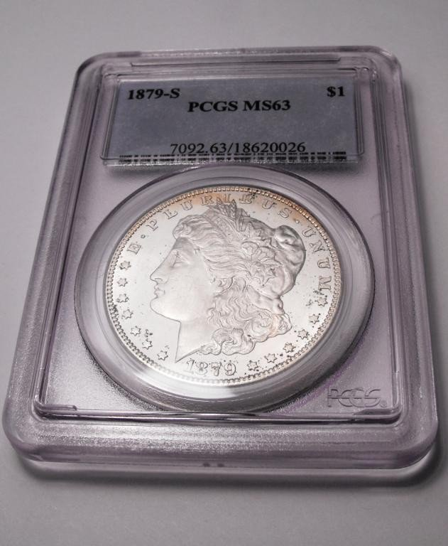 1Z: 1879 s Morgan PCGS MS 63